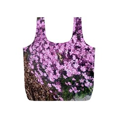 Butterfly On Purple Flowers Full Print Recycle Bags (S)