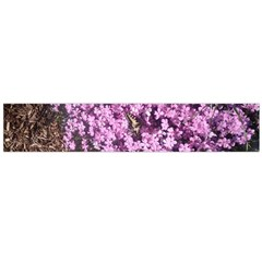Butterfly On Purple Flowers Flano Scarf (Large)