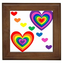 Pride Hearts Bg Framed Tiles