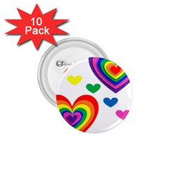 Pride Hearts Bg 1.75  Buttons (10 pack)