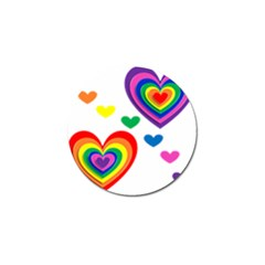Pride Hearts Bg Golf Ball Marker