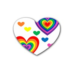 Pride Hearts Bg Rubber Coaster (heart)