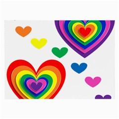 Pride Hearts Bg Large Glasses Cloth (2-Side)