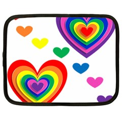 Pride Hearts Bg Netbook Case (XL)