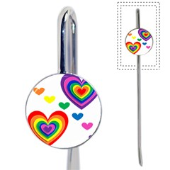 Pride Hearts Bg Book Mark