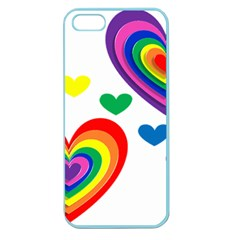 Pride Hearts Bg Apple Seamless iPhone 5 Case (Color)