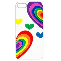 Pride Hearts Bg Apple iPhone 5 Hardshell Case with Stand
