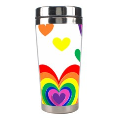 Pride Hearts Bg Stainless Steel Travel Tumblers