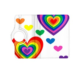 Pride Hearts Bg Kindle Fire HD (2013) Flip 360 Case