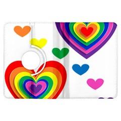 Pride Hearts Bg Kindle Fire HDX Flip 360 Case