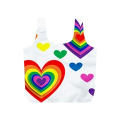 Pride Hearts Bg Full Print Recycle Bags (S)