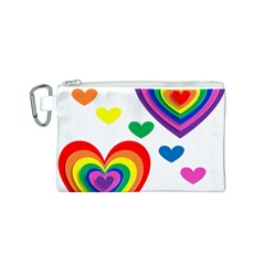 Pride Hearts Bg Canvas Cosmetic Bag (S)