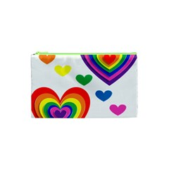 Pride Hearts Bg Cosmetic Bag (XS)