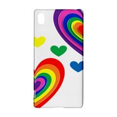 Pride Hearts Bg Sony Xperia Z3+