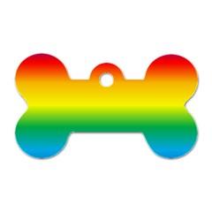 Rainbow Dog Tag Bone (One Side)
