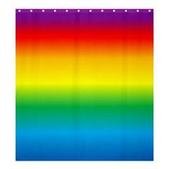 Rainbow Shower Curtain 66  x 72  (Large)