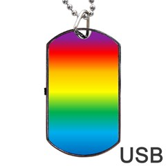 Rainbow Dog Tag USB Flash (One Side)