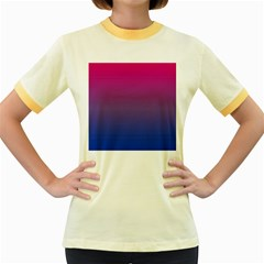 Bi Colors Women s Fitted Ringer T-Shirts