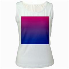 Bi Colors Women s White Tank Top