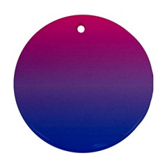 Bi Colors Round Ornament (Two Sides)