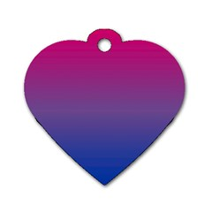 Bi Colors Dog Tag Heart (One Side)