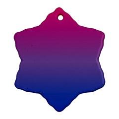 Bi Colors Ornament (Snowflake)