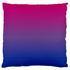 Bi Colors Large Flano Cushion Case (Two Sides)