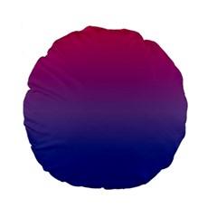 Bi Colors Standard 15  Premium Flano Round Cushions