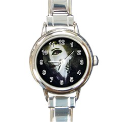 Goth Bride Round Italian Charm Watch
