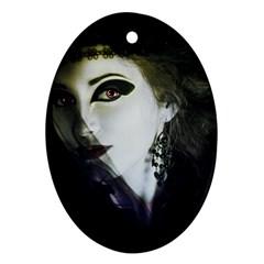 Goth Bride Ornament (Oval)