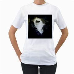 Goth Bride Women s T-Shirt (White) (Two Sided)