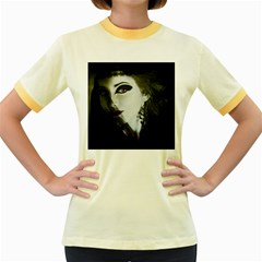 Goth Bride Women s Fitted Ringer T-Shirts
