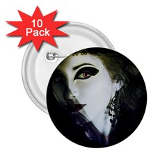 Goth Bride 2.25  Buttons (10 pack)