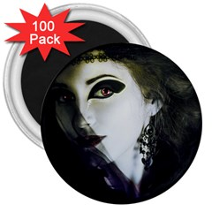 Goth Bride 3  Magnets (100 pack)