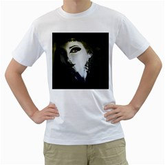Goth Bride Men s T-Shirt (White) (Two Sided)