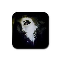 Goth Bride Rubber Square Coaster (4 pack)