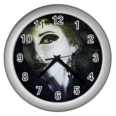 Goth Bride Wall Clocks (Silver)