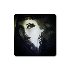 Goth Bride Square Magnet