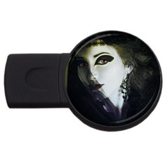Goth Bride USB Flash Drive Round (2 GB)