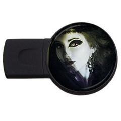 Goth Bride USB Flash Drive Round (1 GB)