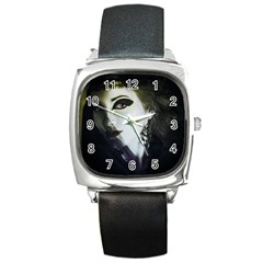 Goth Bride Square Metal Watch