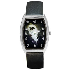 Goth Bride Barrel Style Metal Watch