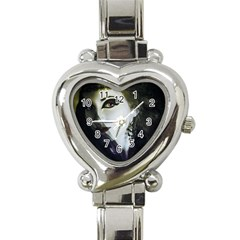 Goth Bride Heart Italian Charm Watch