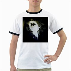 Goth Bride Ringer T-Shirts