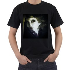 Goth Bride Men s T-Shirt (Black) (Two Sided)