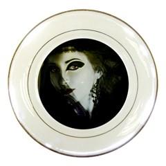 Goth Bride Porcelain Plates