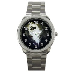 Goth Bride Sport Metal Watch