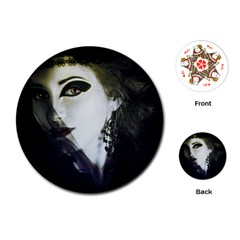 Goth Bride Playing Cards (Round)