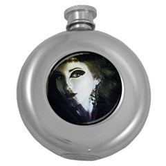 Goth Bride Round Hip Flask (5 oz)