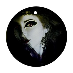 Goth Bride Round Ornament (Two Sides)